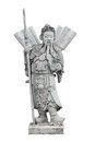Chinese Warrior Stone Sculpture, Isolated Royalty Free Stock Images - 76412209