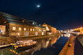 Boats On Otaru Canals At Dusk Royalty Free Stock Photos - 76417338