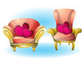Cartoon Vector Illustration Interior Valentine Room With Separated Layers Royalty Free Stock Photos - 76423748