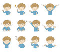 Young Boy With Various Poses And Emotions Stock Image - 76435211