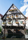 Historic Half-timbered House In Ulm Stock Photo - 76457090