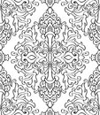 Floral Black And White Ornament. Stock Photo - 76457800
