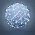 Global Network Concept Over Dark Background Royalty Free Stock Photography - 76459347