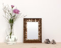 Small Bronze Frame Mockup Royalty Free Stock Image - 76463026