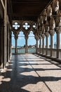 Arcade Of The Doge S Palace: Gothic Architecture In Venice, Ital Stock Image - 76464991
