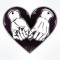 Pinky Promise, Hand Holding. Trendy Vector Art Royalty Free Stock Photo - 76470505