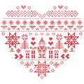 Heart Shape Christmas  Pattern With Santa Claus On White  Background Royalty Free Stock Photography - 76480397
