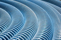Dirty Blue Corrugated Plastic Hose As Background Royalty Free Stock Photography - 76488297