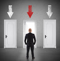 Concept Of Businessman Choosing The Right Door Royalty Free Stock Photo - 76491265