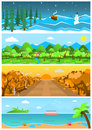 Set Of Nature Backgrounds And Landscapes With Different Seasons. Royalty Free Stock Photography - 76492887