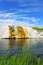 Firehole Riverbank In Yellowstone National Park Stock Image - 76493391