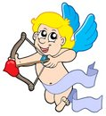 Cute Cupid With Bow Stock Photography - 7654902