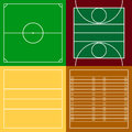 Top View Of Sport Fields Set Royalty Free Stock Photos - 76519708