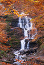 Beautiful Waterfall In Forest, Autumn Landscape Royalty Free Stock Photography - 76529677