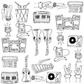 Doodle Of Theme Music Tools Stock Image - 76548051