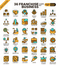 Franchise Business Icons Royalty Free Stock Photography - 76591277