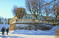 A Corner Part Of The Gatchina Palace In The Palace Park. Stock Photography - 76599322