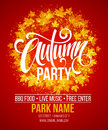 Fall Party. Template For Autumn Poster, Banner, Flyer. Vector Illustration. Vector Illustration Stock Image - 76602431