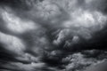 Cloudy Stormy Black And White. Stock Photo - 76611240