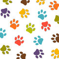 Dog Paw Print Colorful Pattern Vector Royalty Free Stock Photo - 76617845