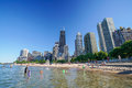 Chicago Skyline From North Avenue Beach Royalty Free Stock Photos - 76623198