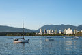Boats On The Ocean In English Bay, Vancouver, British Columbia, Stock Images - 76629164