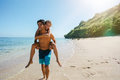 Happy Couple In Love On Beach Summer Vacations Stock Images - 76640774