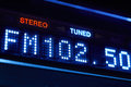 FM Tuner Radio Display. Stereo Digital Frequency Station Tuned Royalty Free Stock Image - 76649476