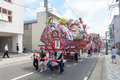 Hirosaki Neputa (Fan-shaped Float) Festival In Japan. Stock Image - 76649671