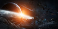 Gigantic Asteroids About To Crash 3D Rendering Elements Of This Stock Photos - 76659043