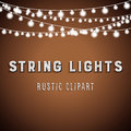 Rustic String Lights Background Stock Images - 76680244