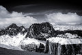 View From Sass Pordoi In The Upper Part Of Val Di Fassa Stock Image - 76711331
