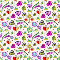 Seamless Vector Floral Pattern. Stock Photography - 76734462