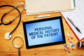 Personal Medical History Of The Patient, Healthcare Concept Royalty Free Stock Photography - 76756457