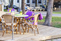 Background Cityscape Table At An Outdoor Cafe Stock Photo - 76771540