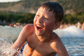 Boy Bathing In The Sea Stock Images - 76788724