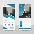 Blue Roll Up Business Brochure Flyer Banner Design , Cover Presentation Abstract Geometric Background, Modern Publication X-banner Stock Images - 76796574