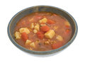 Bowl Of Manhattan Style Clam Chowder Royalty Free Stock Images - 76799739