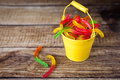 Jelly Worms Candies Royalty Free Stock Image - 76801196