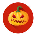 Orange Pumpkin Jack Face Halloween Holiday Icon Stock Photography - 76822112