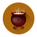 Cauldron With Boiling Potion Halloween Holiday Icon Stock Photo - 76822140