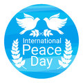 World Peace Day Poster White Dove Bird Couple Symbol Stock Images - 76822894