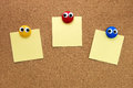Pin Paper On Cork Board Royalty Free Stock Image - 76823426
