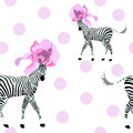 Abstract Illustration Of Two Striped White And Black Zebra Stock Photo - 76826160