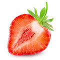 Half Of Strawberry Isolated On White Royalty Free Stock Images - 76834449