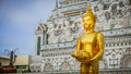 Buddha Gold Statue And Thai Art Architecture. Royalty Free Stock Photo - 76841065