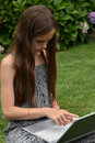 Teenage Schoolgirl With Notebook Royalty Free Stock Images - 76845539