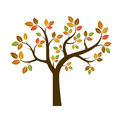 Shape Of Autumn Tree. Vector Illustration. Stock Photo - 76871590