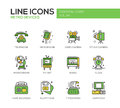 Retro Devices - Line Design Icons Set Stock Photos - 76879083