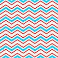 Abstract Geometric Chevron Seamless Pattern In Blue Red And White, Vector Royalty Free Stock Image - 76880256